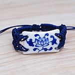 Porcelani byzylyk, with Cord najlon, Drejtkëndësh, punuar me dorë, asnjë, asnjë, 40x25mm, :7-9Inç, 4Fillesat/Shumë,  Shumë