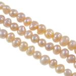Barok Beads kulturuar Pearl ujërave të ëmbla, Pearl kulturuar ujërave të ëmbla, Nuggets, natyror, rozë, 4-5mm, : 0.8mm, : 14Inç, 10Fillesat/Qese,  Qese