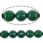 Beads Dashuri Green agat, Jeshile agat, Round, asnjë, faceted, 18mm, : 2mm, :16Inç, 5Fillesat/Shumë,  Shumë