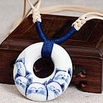 Gjerdan Porcelani, with Cord Wax, Petull e ëmbël në formë gjevreku, punuar me dorë, asnjë, dy-ton, 40mm, : 14-26Inç, 2Fillesat/Shumë,  Shumë