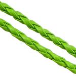 Cord lëkure, PU, e gjelbër, 3mm, :100Oborr,  Shumë