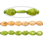 Bruz Beads, Bruz sintetike, Lot, asnjë, asnjë, ngjyra të përziera, 15x10x3mm, : 1.8mm, :16Inç, 30Fillesat/Shumë,  Shumë
