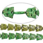 Bruz Beads, Bruz sintetike, Shape Tjera, asnjë, asnjë, ngjyra të përziera, 25x24x5mm, : 1mm, :16Inç, 10Fillesat/Shumë,  Shumë
