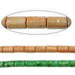 Bruz Beads, Bruz sintetike, Tub, asnjë, asnjë, ngjyra të përziera, 12x8mm, : 1mm, :15Inç, 20Fillesat/Shumë,  Shumë