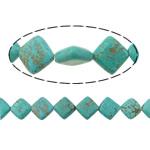 Bruz Beads, Bruz Natyrore, Romb, i lyer, asnjë, dritë blu, 11x11x4mm, : 1mm, :16Inç, 10Fillesat/Shumë,  Shumë