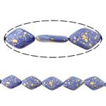 Bruz Beads, Bruz sintetike, Diamant, asnjë, asnjë, vjollcë, 29x19x7mm, : 2mm, :16Inç, 10Fillesat/Shumë,  Shumë