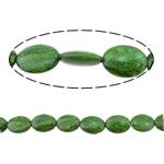Bruz Beads, Bruz sintetike, Oval Flat, asnjë, asnjë, e gjelbër, 24x18x8mm, : 2mm, :16Inç, 10Fillesat/Shumë,  Shumë