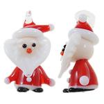 Krishtlindjeve Pendants Lampwork, Santa Claus, punuar me dorë, asnjë, asnjë, 19x31x14mm, : 5x3mm, 10PC/Qese,  Qese
