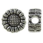 Beads Alloy zink Lule, Ngjyra antike argjendi praruar, asnjë, asnjë, , nikel çojë \x26amp; kadmium falas, 6x3mm, : 1.5mm, 3330PC/KG,  KG
