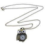 Watch Necklace, zinc alloy, Sold per approx 31-Inch Strand