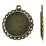 Zink Alloy varëse Setting, Round Flat, Ngjyra antike bronz i praruar, asnjë, asnjë, , nikel çojë \x26amp; kadmium falas, 27.50x31x2.50mm, : 2mm, 50PC/Qese,  Qese