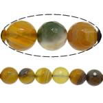 Natürliche Kaffee Achat Perlen, rund, verschiedene Größen vorhanden & facettierte, Bohrung:ca. 0.8-1mm, Länge:ca. 15 ZollInch, verkauft von Menge