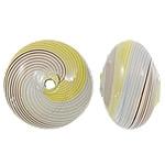 Beads lulëzim Lampwork, Round Flat, fryj, asnjë, asnjë, 16.5x11mm, : 1.5-2.5mm, 50PC/Qese,  Qese