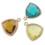 Zink Alloy Glass varëse, Alloy zink, Trekëndësh, asnjë, asnjë, ngjyra të përziera, , nikel çojë \x26amp; kadmium falas, 13.50x16.50x5.50mm, : 1mm, 50PC/Qese,  Qese