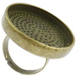 Alloy zink Finger Ring Setting, Shape Tjera, Ngjyra antike bronz i praruar, asnjë, asnjë, , nikel çojë \x26amp; kadmium falas, 25x5mm, : 17.5mm, :7, 50PC/Qese,  Qese