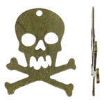 Pendants Skull Alloy zink, Kafkë, Ngjyra antike bronz i praruar, asnjë, asnjë, , nikel çojë \x26amp; kadmium falas, 50x66x1.50mm, : 4.5mm, 50PC/Qese,  Qese