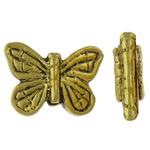 Beads Alloy zink Kafshëve, Flutur, Ngjyra antike ari praruar, asnjë, asnjë, , nikel çojë \x26amp; kadmium falas, 15x11x4mm, : 1.5mm, 100PC/Qese,  Qese