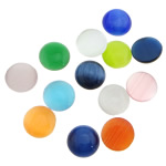 Cats Eye Cabochons, Flat round, more coolors for choice, 12mm, Sold by PC