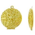 Varëse medalion Zink Alloy, Round Flat, ngjyrë ari praruar, asnjë, asnjë, , nikel çojë \x26amp; kadmium falas, 27x31.50x17mm, : 1.5mm, 50PC/Qese,  Qese