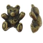 Beads Alloy zink Kafshëve, Bear, Ngjyra antike bronz i praruar, asnjë, asnjë, , nikel çojë \x26amp; kadmium falas, 12x13.50x6mm, : 1.5mm, 100PC/Qese,  Qese