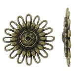 Cilësimet Zink Alloy Cabochon, Lule, Ngjyra antike bronz i praruar, asnjë, asnjë, , nikel çojë \x26amp; kadmium falas, 30.5x4mm, 100PC/Qese,  Qese