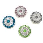 Rrëshirë Beads diamant i rremë, Monedhë, asnjë, ngjyra të përziera, 12x12x6mm, : 2mm, 100PC/Shumë,  Shumë