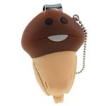 Moda Nail Clipper, Silicone, këpurdhë, asnjë, ngjyrë kafe, 34x54x19mm, 10PC/Shumë,  Shumë