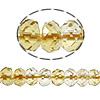 Beads kuarc bizhuteri, Beads citrine, Rondelle, asnjë, 5x7mm, : 1mm, :16Inç, 5Fillesat/Shumë,  Shumë