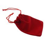 Drawstring çanta bizhuteri, Velveteen, Drejtkëndësh, asnjë, i kuq, 100x120x2mm, 100PC/Qese,  Qese