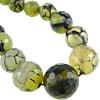 Veins Natyrore Dragon agat Beads, Agat Dragon venë, Round, asnjë, faceted, 6-14mm, : 0.8-1.5mm, :17Inç, 5Fillesat/Shumë,  Shumë