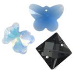 Crystal Pendants, Kristal, ngjyra të përziera, 13.5-38mm, : 1-2mm, 100PC/Qese,  Qese