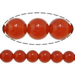 Beads Kuq Natyrore agat, Round, asnjë, asnjë, AA, 6mm, : 1.5mm, :15Inç, 10Fillesat/Shumë,  Shumë