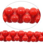 Beads Natyrore Coral, Coral Natyrore, Shape Tjera, i lyer, i kuq, 3x6mm, : 1mm, :15.5Inç, 10Fillesat/Shumë,  Shumë