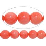 Beads Natyrore Coral, Coral Natyrore, Round, i lyer, rozë, 10mm, : 1mm, :15.5Inç, 10Fillesat/Shumë,  Shumë