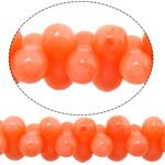 Beads Natyrore Coral, Barbell, asnjë, kuq pak portokalli, 6x3mm, : 0.8mm, :16Inç, 10Fillesat/Shumë,  Shumë