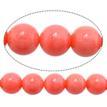 Beads Natyrore Coral, Coral Natyrore, Round, i lyer, Pink fuchsia, 8mm, : 1mm, : 16Inç, 10Fillesat/Shumë,  Shumë