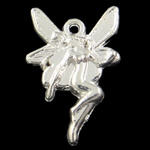 Character Shaped Zinc Alloy Pendants, fairy shape, plated colors for choice, nickel, lead & cadmium free, 22x15x3mm, Hole:Approx 1MM , about 500pcs/Bag , Sold by Bag