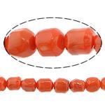 Beads Natyrore Coral, Coral Natyrore, Nuggets, i lyer, portokall, 14mm, : 1mm, :16Inç, 10Fillesat/Shumë,  Shumë