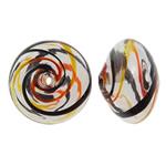 Beads lulëzim Lampwork, Rondelle, fryj, i uritur, asnjë, 17x12mm, : 2mm, 50PC/Qese,  Qese