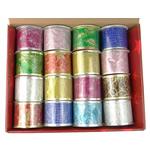 Organza Ribbon, shtypje, asnjë, ngjyra të përziera, 6cm, 5Boxes/Shumë,  Shumë