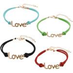 Velvet Bracelets Fashion Cord, Kurrizit Lesh, with Alloy zink, ngjyra të përziera, 39x12x1.5mm, 2mm, :7Inç, 50Fillesat/Shumë,  Shumë