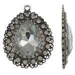 Zink Alloy Glass varëse, Alloy zink, Lot, Ngjyra antike argjendi praruar, me diamant i rremë, asnjë, , nikel çojë \x26amp; kadmium falas, 55x71.50x11mm, : 4mm, 10PC/Qese,  Qese