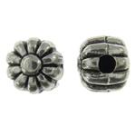Beads Alloy zink Lule, Ngjyra antike argjendi praruar, asnjë, asnjë, , nikel çojë \x26amp; kadmium falas, 5x5mm, : 1mm, 4000PC/KG,  KG
