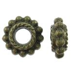 Beads Alloy zink Lule, Ngjyra antike bronz i praruar, asnjë, asnjë, , nikel çojë \x26amp; kadmium falas, 8x3mm, : 2.5mm, 1000PC/Qese,  Qese