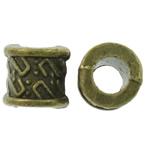 Beads Zink Alloy Tube, Alloy zink, Ngjyra antike bronz i praruar, asnjë, asnjë, , nikel çojë \x26amp; kadmium falas, 7x6.5mm, : 3.5mm, 1250PC/KG,  KG