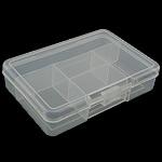 Nail bizhuteri Box, Plastik, Drejtkëndësh, asnjë, asnjë, e bardhë, 140x90x30mm, 20PC/I vendosur,  I vendosur