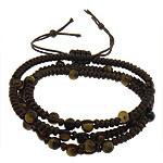 Shamballa Bracelets gur i çmuar, Cord najlon, bojë kafe, 5mm, 6mm, :22-26Inç, 5Fillesat/Shumë,  Shumë