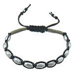 Shamballa Bracelets kuqe e mbylltë, Cord Wax, 8x5.50mm, :7-10Inç, 10Fillesat/Shumë,  Shumë