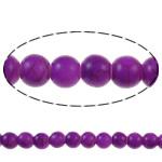 Bruz Beads, Bruz sintetike, Round, pikturë, vjollcë, 8mm, : 1mm, : 15.7Inç, 54PC/Fije floku,  15.7Inç,