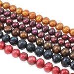 Patates Beads ujërave të ëmbla kulturuar Pearl, Pearl kulturuar ujërave të ëmbla, i lyer, ngjyra të përziera, 9-10mm, : 0.8mm, : 16.5Inç, 50Fillesat/Qese,  Qese
